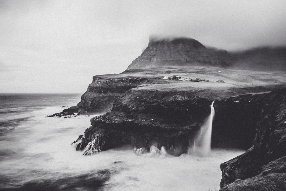 Múlafossur Gásadalur Färöarna
