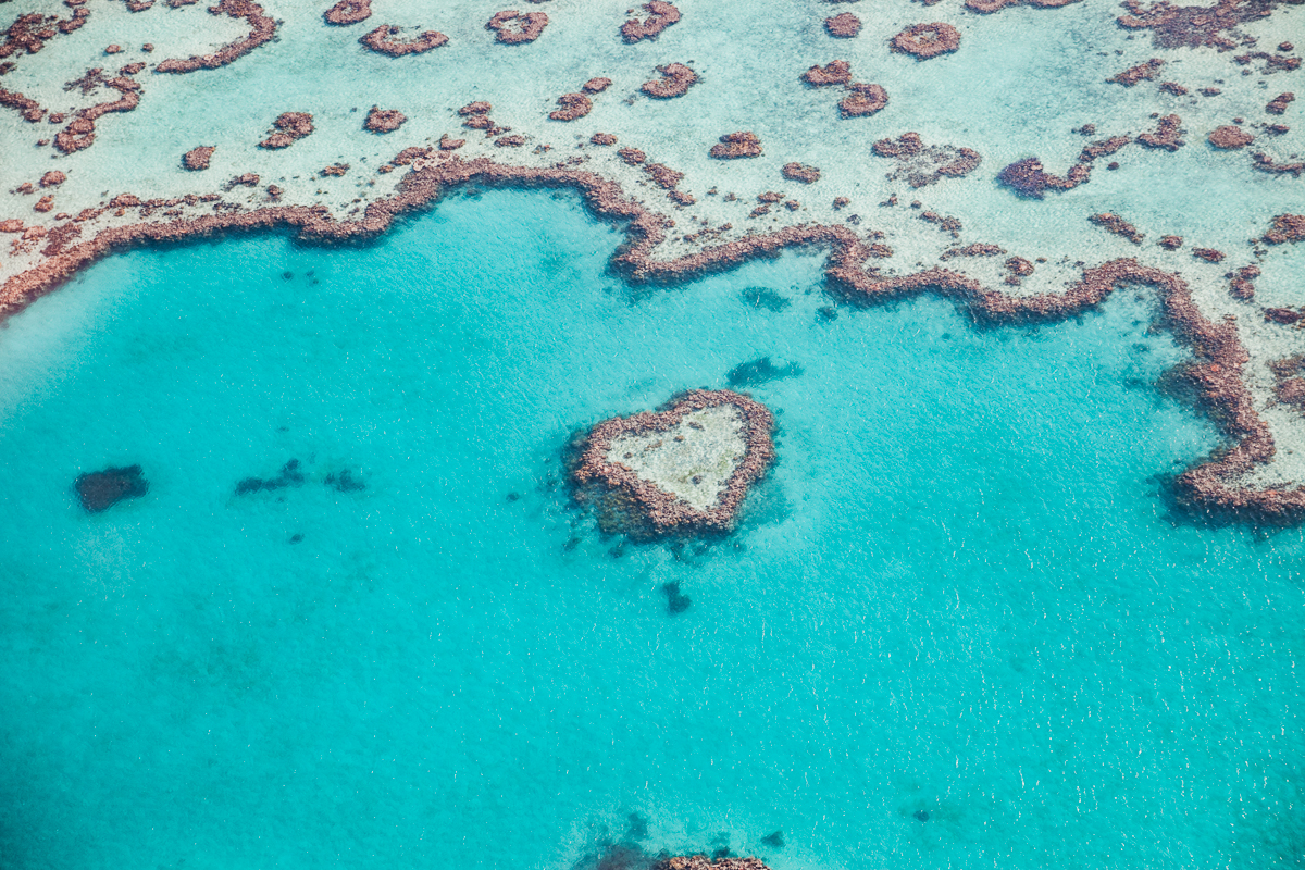 Mitt stadsalfabet (World Edition) | Airlie Beach, Australien | Heart Reef
