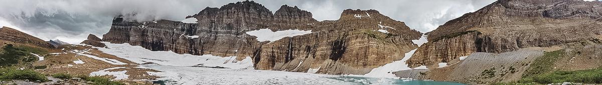 Vandring längs Grinnell Glacier Trail i Glacier National Park (Montana) Tony Gunnare