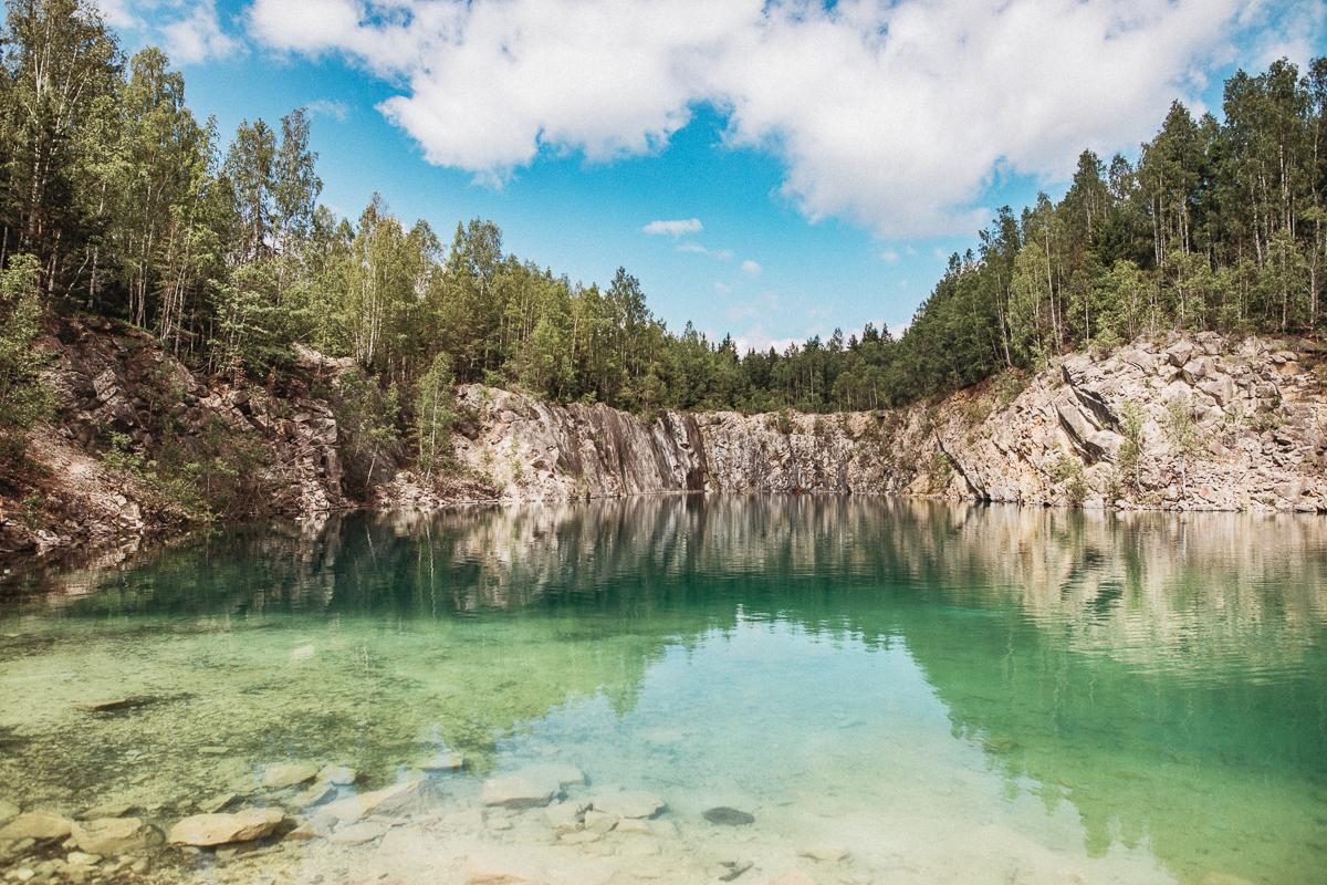 Kalkbrottet Uskavi – en badpärla i Västmanland