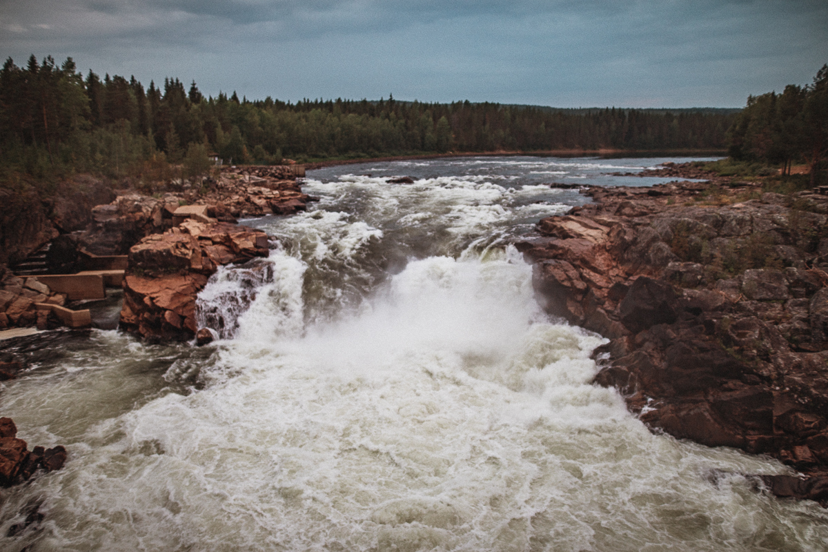 Vattenfallet Jockfallet - Jockfall - Norrbotten