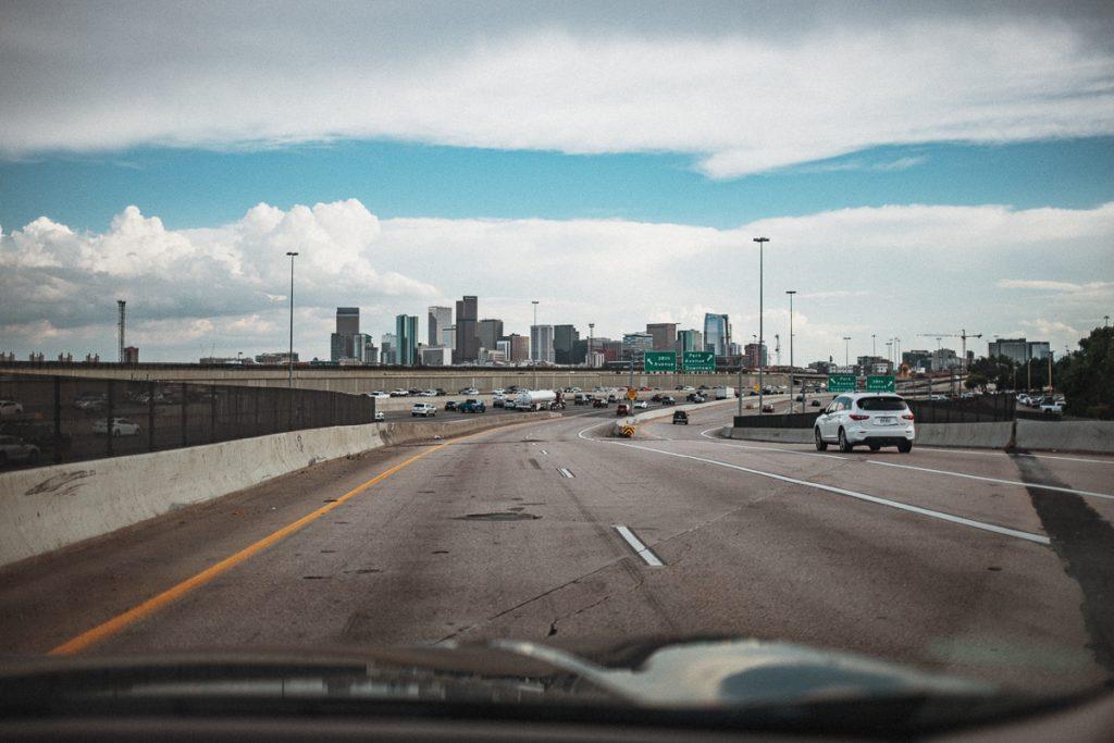 På väg mot Denver.